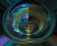 Abstracte digitale fractal, kleurrijke mooie ontwerpmotie, glanzende werveling, stock illustratie