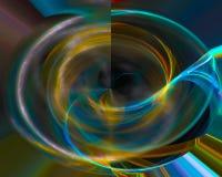 Abstracte digitale fractal, moderne, futuristische kleurrijke mooie ontwerpmotie, glanzende werveling, vector illustratie