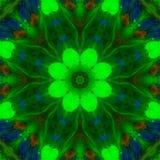 Abstracte digitale mandala van de caleidoscoop creatieve symmetrie, kleurenornament, decorachtergrond stock illustratie
