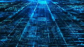 Abstracte digitale matrijsachtergrond Futuristisch groot gegevensinformatietechnologie concept stock illustratie