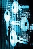 Abstracte Digitale Sleutels royalty-vrije stock afbeeldingen