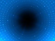 Abstracte digitale tunnel met licht aan het eind Futuristische cyberachtergrond Heldere gloeiende pijp Moderne achtergrond voor W Royalty-vrije Stock Afbeeldingen