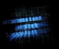 Abstracte digitale virtuele stad Aftastenstad voor het concept van de hakkersaanval Softwareontwikkelaar, programmering, binaire  vector illustratie