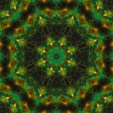 Abstracte digitale vormcaleidoscoop, van de symmetrie de creatieve mandala van de fantasietextuur decoratieve futuristische meetk stock illustratie