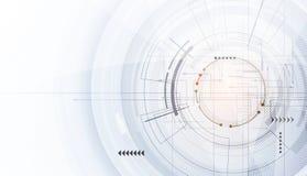 Abstracte digitale websitekopbal De achtergrond van de banner Stock Fotografie