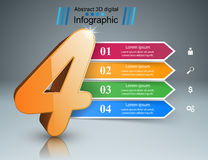 Abstracte 3DInfographic Marketing informatie Stock Fotografie
