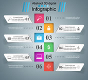 Abstracte 3DInfographic Marketing informatie Royalty-vrije Stock Afbeeldingen