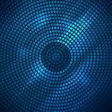 Abstracte discoachtergrond met halftone. vector illustratie