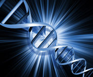 Abstracte DNA Stock Afbeelding