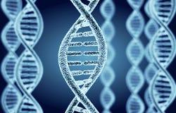 Abstracte DNA-spiraal Stock Afbeelding