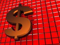 Abstracte dollarachtergrond Royalty-vrije Stock Fotografie
