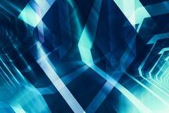 Abstracte donkerblauwe digitale achtergrond, high-tech CG Royalty-vrije Stock Afbeeldingen