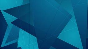 Abstracte donkerblauwe geometrische veelhoekige videoanimatie royalty-vrije illustratie