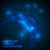 Abstracte donkerblauwe technische achtergrond Royalty-vrije Stock Foto's