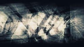 Abstracte donkere artistieke digitale achtergrond, high-tech Royalty-vrije Stock Foto's
