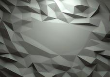 Abstracte donkere 3d teruggegeven geometrische lage polyachtergrond stock fotografie