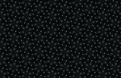 Abstracte donkere de winterachtergrond met sneeuwvlokken, geometrisch naadloos patroon op zwart, grijs bruin geeloranje kastanjeb Stock Fotografie