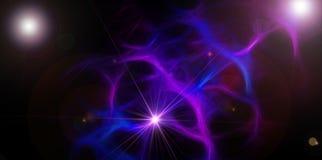 Abstracte donkere ruimtesuspense Royalty-vrije Stock Fotografie