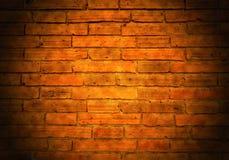 Abstracte donkere uitstekende bakstenen muur Royalty-vrije Stock Fotografie