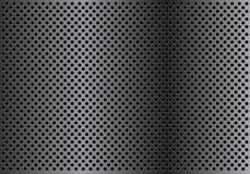 Abstracte donkergrijze het patroon van het achtergrond cirkelnetwerk textuurvector Royalty-vrije Stock Foto