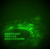 Abstracte donkergroene technische achtergrond vector illustratie