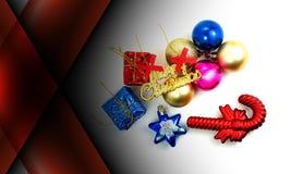 Abstracte donkerrode kleurenachtergrond met Kerstmisdecoratie royalty-vrije stock foto's