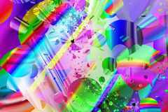 Abstracte, door de computer geproduceerde fractal Stock Afbeelding