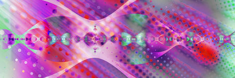 Abstracte, door de computer geproduceerde fractal Stock Foto's