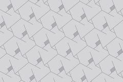 Abstracte dozenachtergrond Moderne technologie met vierkante opening Geometrische Lijnen Kubuscel stock illustratie