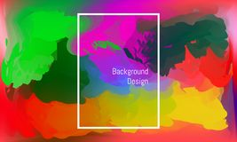 Abstracte draaivorm zoals waterkleur kleurrijk mooi ontwerp als achtergrond Vector illustratie EPS10 royalty-vrije illustratie