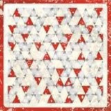 Abstracte driehoeken in grijs en rood Stock Afbeeldingen