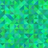 Abstracte driehoekige groene patroon of achtergrond Royalty-vrije Stock Fotografie