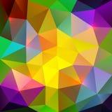 Abstracte driehoekige kleurrijke mozaïekachtergrond Stock Afbeeldingen