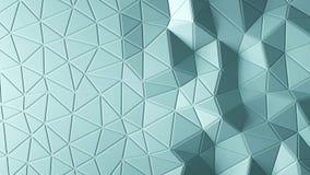 Abstracte driehoekige kristallijne animatie als achtergrond 4K stock illustratie