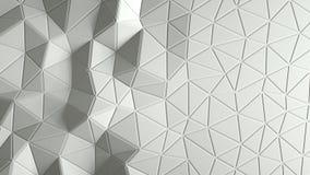 Abstracte driehoekige kristallijne animatie als achtergrond 4K royalty-vrije illustratie