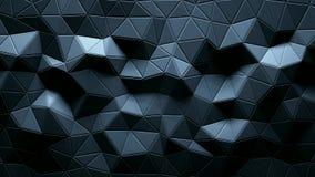 Abstracte driehoekige kristallijne animatie als achtergrond 4K vector illustratie