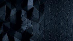 Abstracte driehoekige kristallijne animatie als achtergrond 4K stock videobeelden