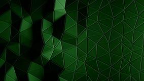 Abstracte driehoekige kristallijne animatie als achtergrond 4K stock footage