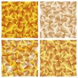 Abstracte Driehoekige Mozaïekachtergrond Stock Afbeelding