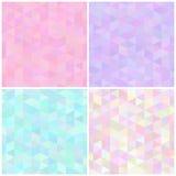 Abstracte driehoekige naadloze patronen Royalty-vrije Stock Foto's