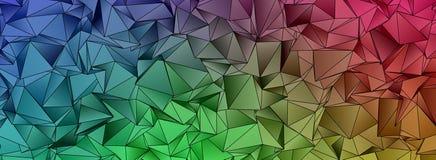 Abstracte driehoekige veelhoekige achtergrond Stock Foto's