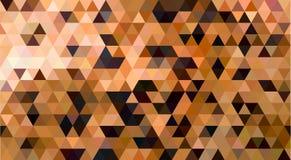 Abstracte Driehoeks Geometrische Achtergrond: Jachtluipaard Royalty-vrije Stock Afbeeldingen