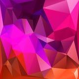 Abstracte driehoeks geometrische vierkante achtergrond Stock Afbeelding