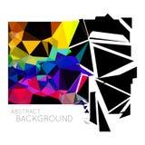 Abstracte driehoeks vectorachtergrond Stock Fotografie