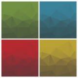 Abstracte driehoeksachtergronden met strepen Royalty-vrije Stock Afbeeldingen