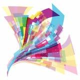 Abstracte dynamische achtergrond Stock Foto