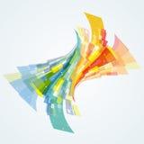 Abstracte dynamische achtergrond Royalty-vrije Stock Afbeelding