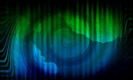 Abstracte dynamische groene achtergrond Groene werveling Cirkelgolf royalty-vrije illustratie