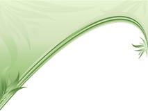 Abstracte ecologische grens met installaties vector illustratie
