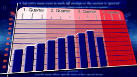 Abstracte economische grafiek als achtergrond stock illustratie